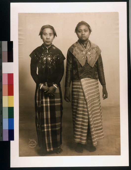 """Moro Girls from the island of Mindano, Philippines."" (Taken during the 1904 World's Fair). Gerhard Sisters, photographer"