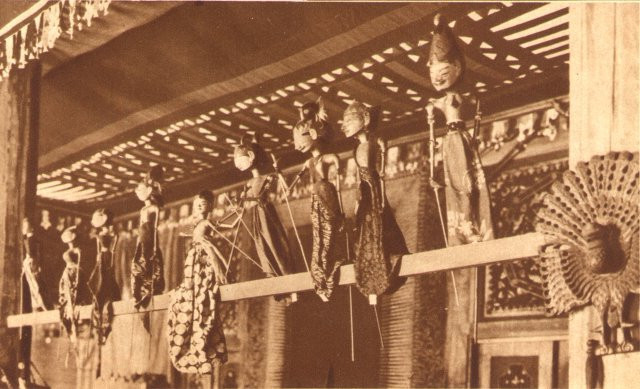 """Javanese puppets for the vayang at the popular theater."""