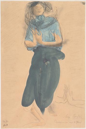 """Cambodian dancer."" July 1906. Auguste Rodin (1840 -1917)"