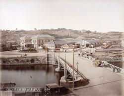 Bentenbashi and Station, 1870s