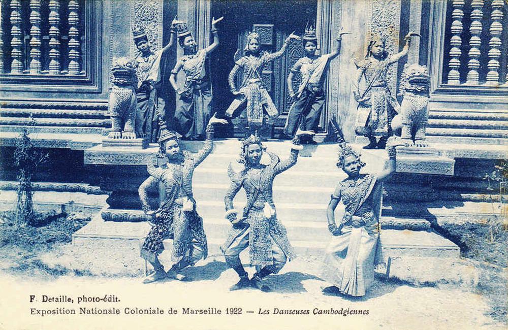 """""""Danseuses Cambodgiennes à Marseille."""" 1922 Marseille Colonial Exhibition"""