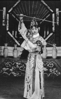 Mei Lanfang sword dance stills.