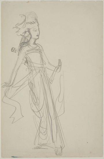 """Javanese Dancer Sketch."" From Sketchbook of Javanese Dancers, 1889. By John Singer Sargent (1856-1925)."
