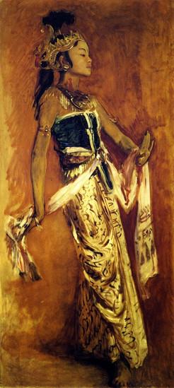 """""""A Javanese Dancer, 1889."""" By John Singer Sargent (1856-1925)."""