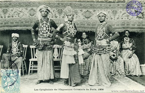 """Les Cynghalais."" November 05, 1906. 1906 Paris Exposition Coloniale"