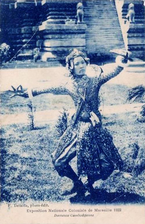 """Danseuse Cambodgienne."" 1922 Marseille Colonial Exhibition"