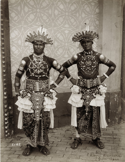 """Devil Dancers from Asia."" (Dancers from Ceyon in the Mysterious Asia section of the Pike at the 1904 World's Fair)."