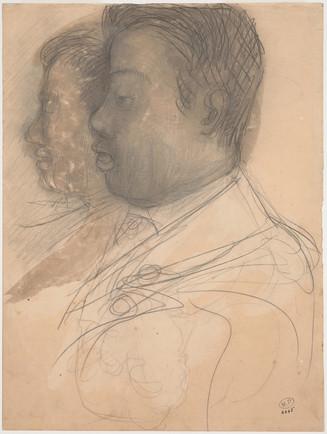 """""""Portrait of King Sisowath."""" July 1906. Auguste Rodin (1840 -1917)"""