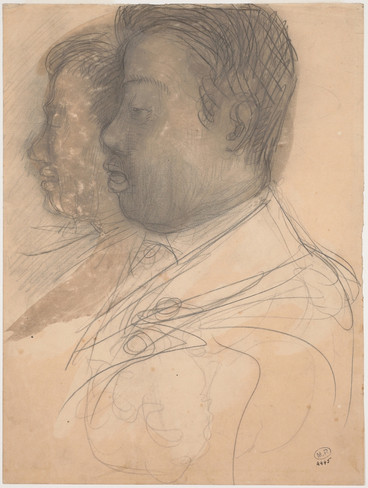"""Portrait of King Sisowath."" July 1906. Auguste Rodin (1840 -1917)"