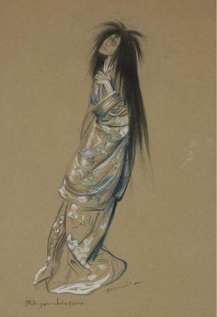 Sadayakko study (1900) by Pierre-Georges Jeanniot