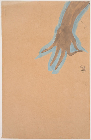 """Hand study of Cambodian dancer."" July 1906. Auguste Rodin (1840 -1917)"