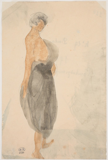 """Cambodian dancer in profile to the right."" July 1906. Auguste Rodin (1840 -1917)"