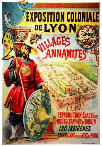 Francisco Tamagno Affiche Villages annamites à Lyon (1894)