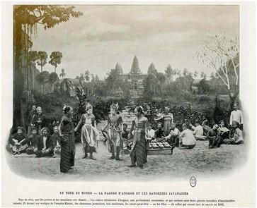 """Around the World - The Angkor Pagoda and the Javanese Dancers."""