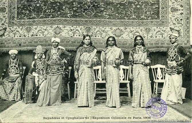 """Bayaderes et Cynghalais gel."" 1906 Paris Exposition Coloniale"