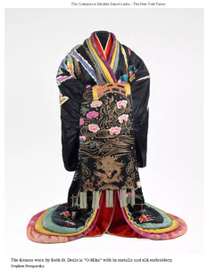 """The kimono worn by Ruth St. Denis in """"O-Mika."""""""