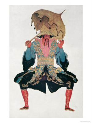 Leon Bakst, Costume design for the chinese mandarin in La Belle au Bois Dormant, 1921