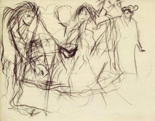 """La Danseuse Sada Yacco"" (1901) by Pablo Picasso"