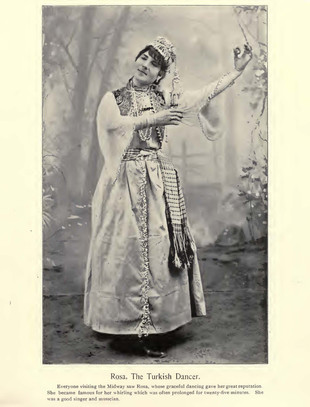 """Rosa, The Turkish Dancer."" Chicago Times Portfolio of the Midway Types. The American Eng Co. 1895."