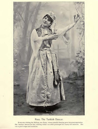 """""""Rosa, The Turkish Dancer."""" Chicago Times Portfolio of the Midway Types. The American Eng Co. 1895."""