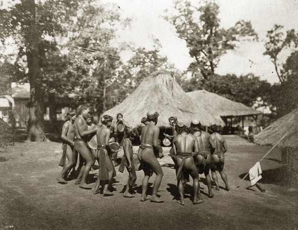 """Igorrote Dance."" (Philippine Reservation in the Department of Anthropology at the 1904 World's Fair)."