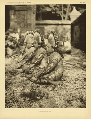 """""""Dancers from Bali"""" from The Colonial Exhibition of Paris, 1931"""