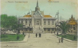 """""""Annamese Theater."""" 1906 Marseille Colonial Exhibition"""