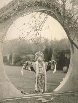 Ruth St Denis in Peking opera costume. Shanghai, 1926?