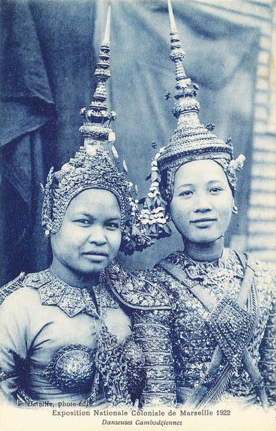 """""""Deux Danseuses Cambodgiennes à Marseille."""" 1922 Marseille Colonial Exhibition"""
