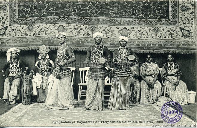 """Cynghalais et Bayaderes."" 1906 Paris Exposition Coloniale"