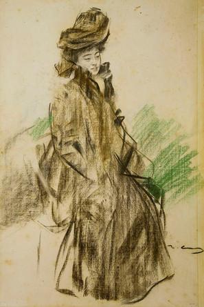 Sada Yacco (1902) by Ramon Casas