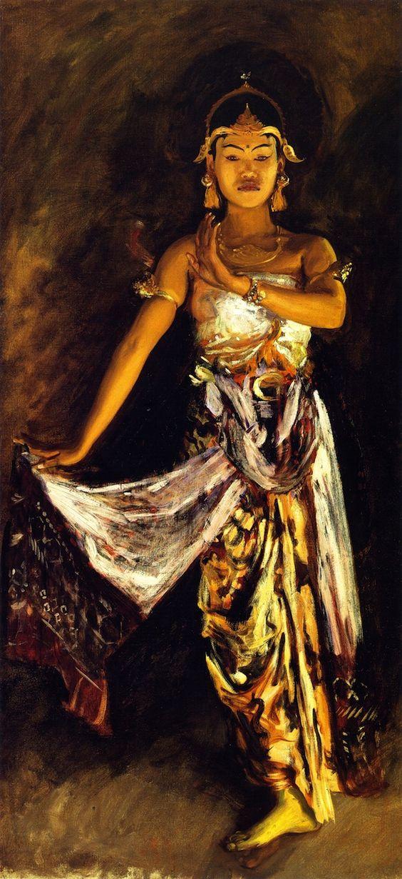 The Athenaeum - A Javanese Dancer (John Singer Sargent - ) 1889