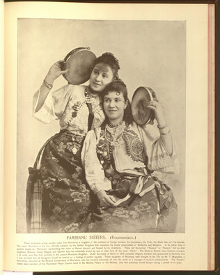 """""""Farbianu Sisters (Romanians)."""" Oriental and Occidental, Northern and Southern: Portrait Types of the Midway Plaisance. St. Louis: N.D. Thompson, 1894."""