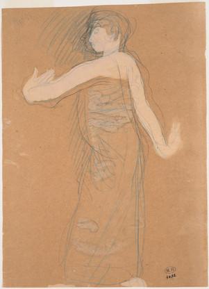 """Cambodian dancer in profile."" July 1906. Auguste Rodin (1840 -1917)"