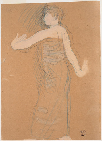 """Cambodian dancer in profile."" July 1906. Auguste Rodin (1840 -1917)"