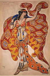 """Ballet Russes, Oriental Costume, Design Leon Bakst, 1913."""