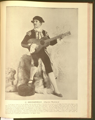 """""""C. Brignardello (Algerian Musician)."""" Oriental and Occidental, Northern and Southern: Portrait Types of the Midway Plaisance. St. Louis: N.D. Thompson, 1894."""