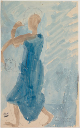 """""""Cambodian dancer in profile to the left."""" July 1906. Auguste Rodin (1840 -1917)"""