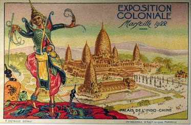 An image advertising the return of the Cambodian dancers at the 1922 Marseilles Colonial Exposition.