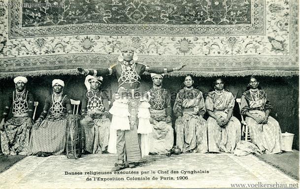 """""""Danses religieuses exécutées par le Chef des Cynghalais."""" 1906 Paris Exposition Coloniale"""