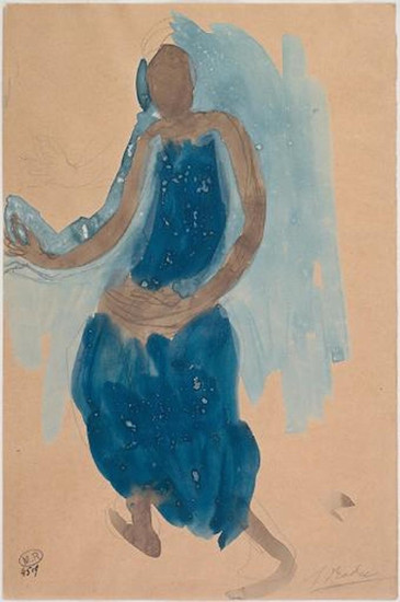"""""""Cambodian dancer three-quarters to the left."""" July 1906. Auguste Rodin (1840 -1917)"""