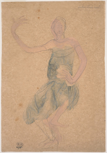 """""""Cambodian dancer in front."""" July 1906. Auguste Rodin (1840 -1917)"""