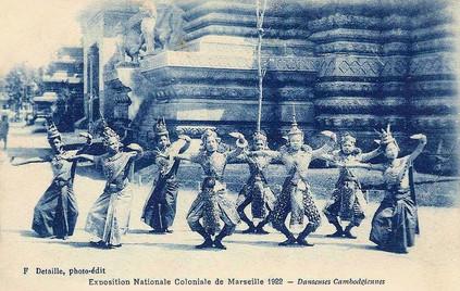 """Danseuses Cambogiennes."" 1922 Marseille Colonial Exhibition"