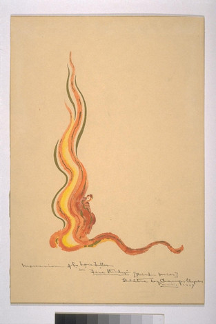 Loie Fuller, Fire Dance. Joseph Paget Fredericks