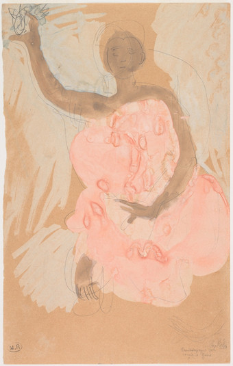 """Cambodian dancer."" July 1906. Auguste Rodin (1840 -1917)"