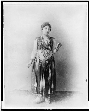 """Egyptian dancing girl."" World's Columbian Exposition, Chicago, Illinois"
