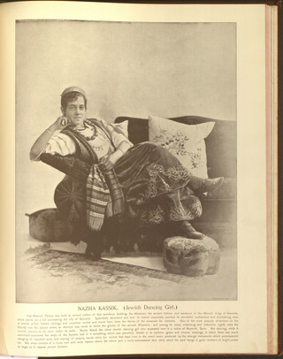 """""""Nazha Kassik (Jewish Dancing Girl)."""" Oriental and Occidental, Northern and Southern: Portrait Types of the Midway Plaisance. St. Louis: N.D. Thompson, 1894."""