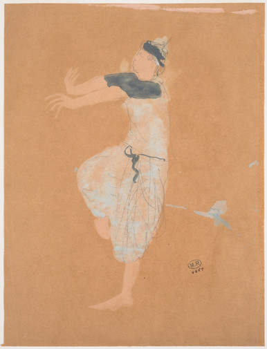 """Cambodian dancer in profile to the left."" July 1906. Auguste Rodin (1840 -1917)"