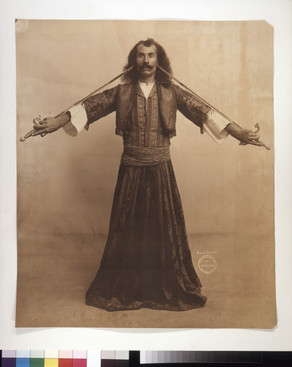 """Whirling Dirvirshir"" [Whirling Dervisher]. (Taken during the 1904 World's Fair). Gerhard Sisters, photographer"