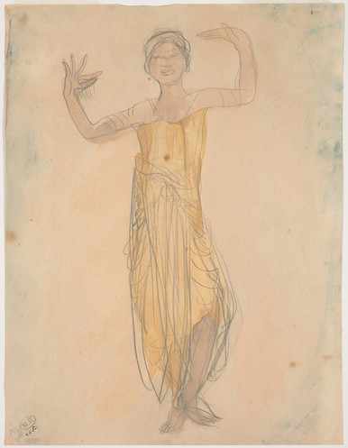 """Cambodian dancer in front."" July 1906. Auguste Rodin (1840 -1917)"